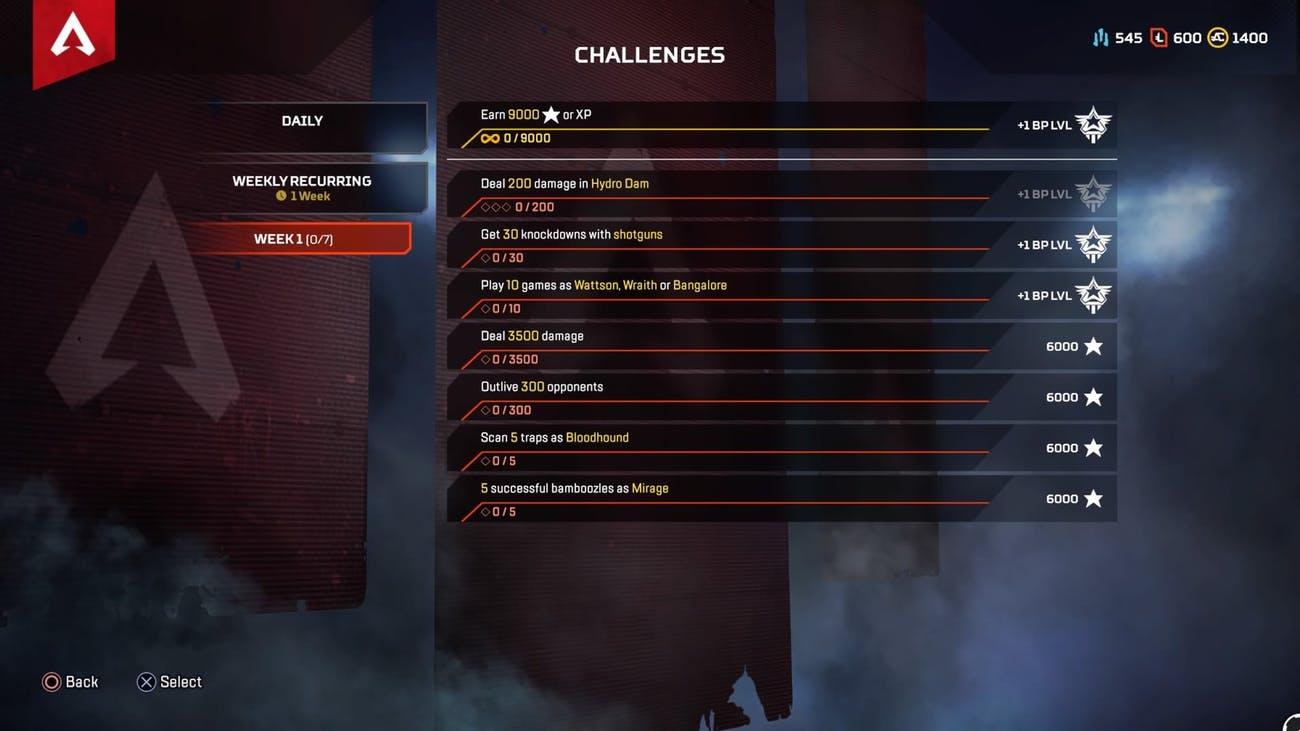 بالاخره چالشها به Apex Legend آمدند