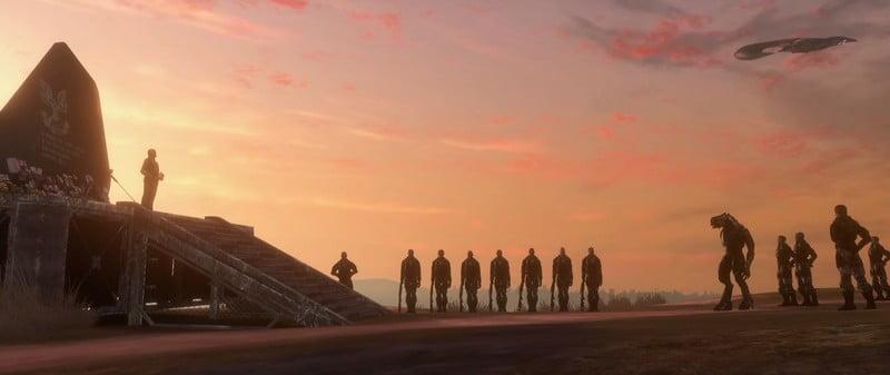 یک یادبود برای قهرمانهایی که کشته و یا گم شدند.