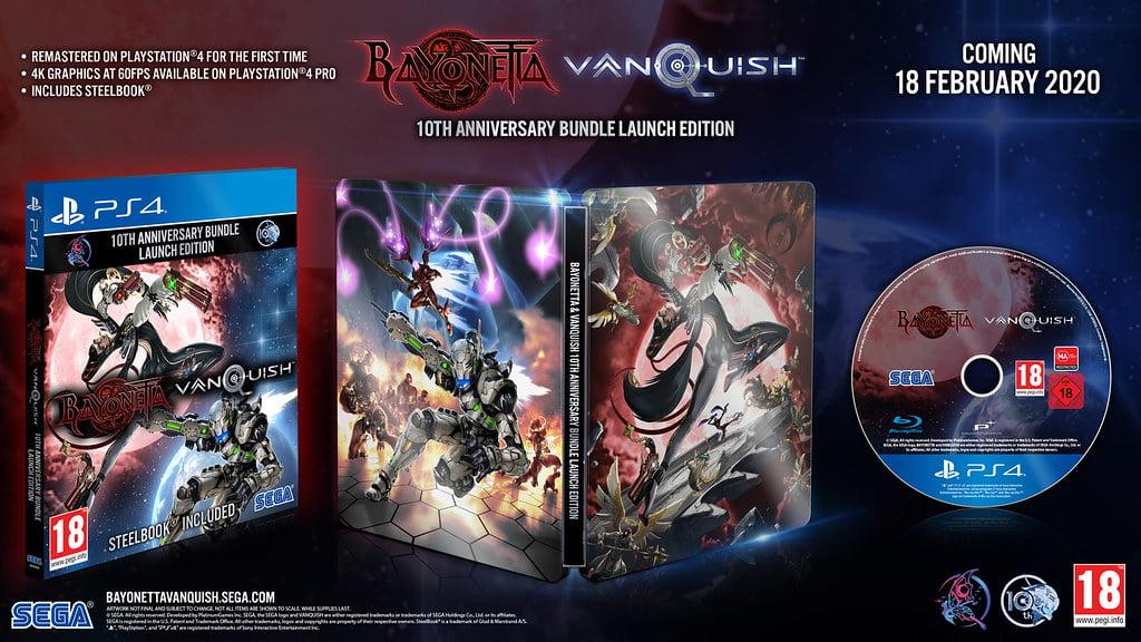 محتوای نسخه فیزیکی مجموعه Bayonetta & Vanquish 10th Anniversary Bundle که زیبا به نظر میرسد.