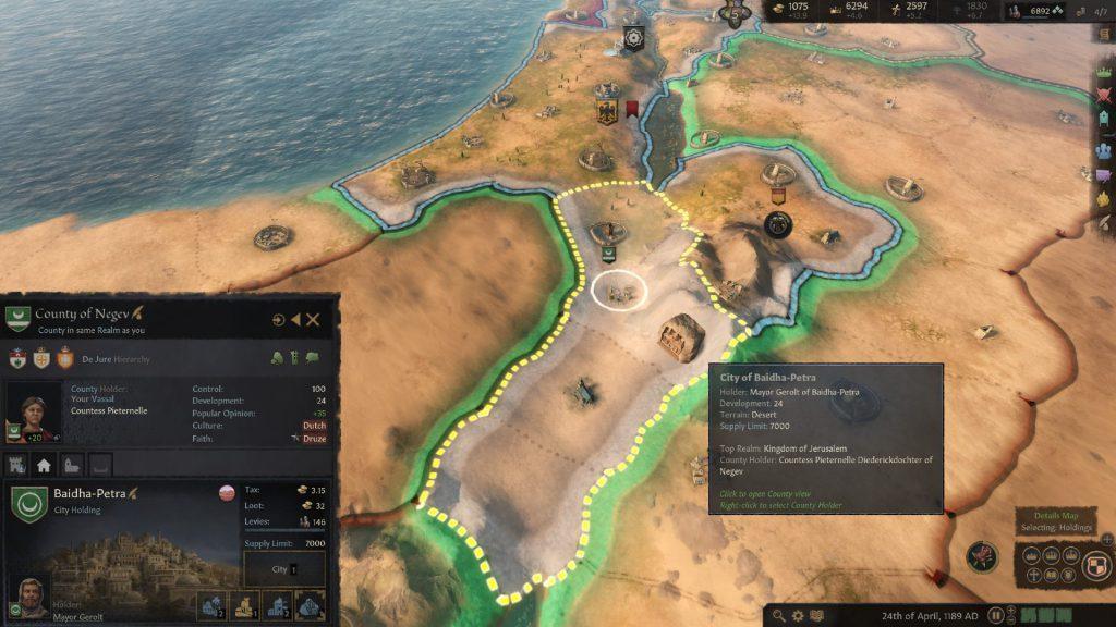 اولین بخش از راهنمای بازی Crusader Kings 3